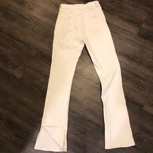Honey Belle High Waisted White Jeans